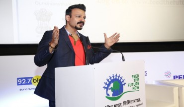 Mr Vivek Oberoi at the video launch of Feed the Future Now