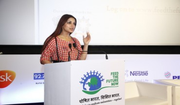Mrs Sonali Bendre at the video launch of Feed the Future Now