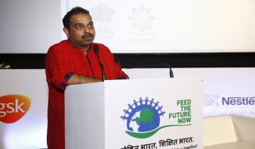 Mr Shankar Mahadevan, Goodwill Ambassador of Akshaya Patra addresses the gathering